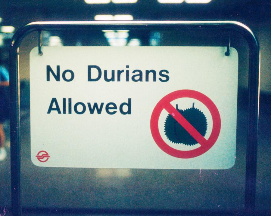 Durian verboten