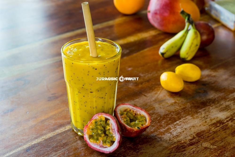 Smoothie mangue et fruit de la passion